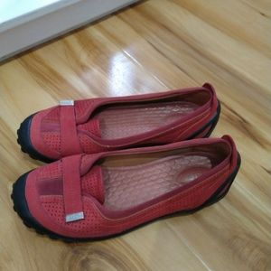 Privo red slip on shoes size 9